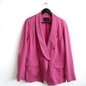 ELOQUII Double Breasted Pink Ponte Blazer